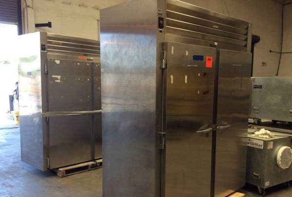 Lot of (2) Traulsen RIH232L-FHS Industrial Refrigerators